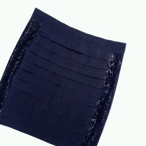 Tory Burch Layered Black Side Detailed Skirt